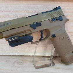 Green pistol laser sighter