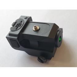 Flat green pistol laser